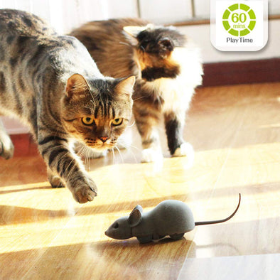 Cat Toy Interactive Remote Control Chasing Mouse