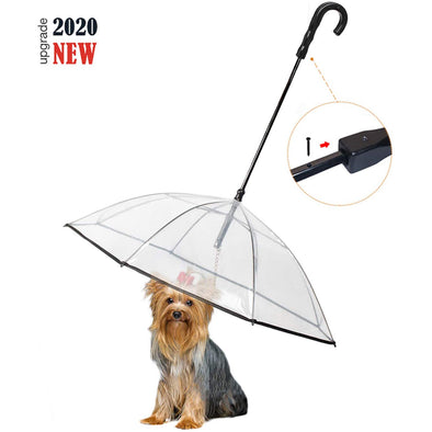 Pet Umbrella with Leash Snow-Proof Rain-Proof