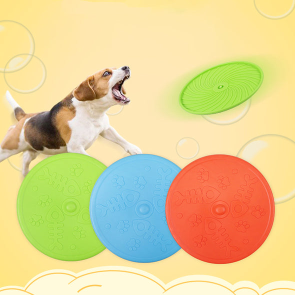 Indestructible & Durable Dog Flying Frisbee 3 Pack