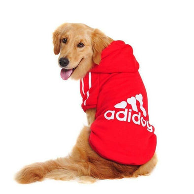 Adidog Red Casual Dog Hoodies