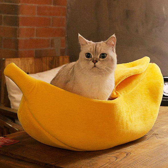 Pet Soft Cuddle Banana Bed