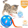 360 Degree Self Rotating Cat Ball with Red LED Light