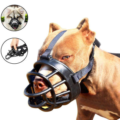 Adjustable & Comfortable Dog Basket Muzzle