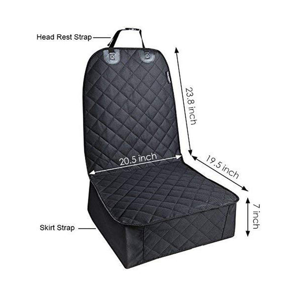 Pet Front Seat Cover 100% waterproof Nonslip Rubber