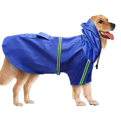Reflective Raincoat Leisure Waterproof Dog Jacket