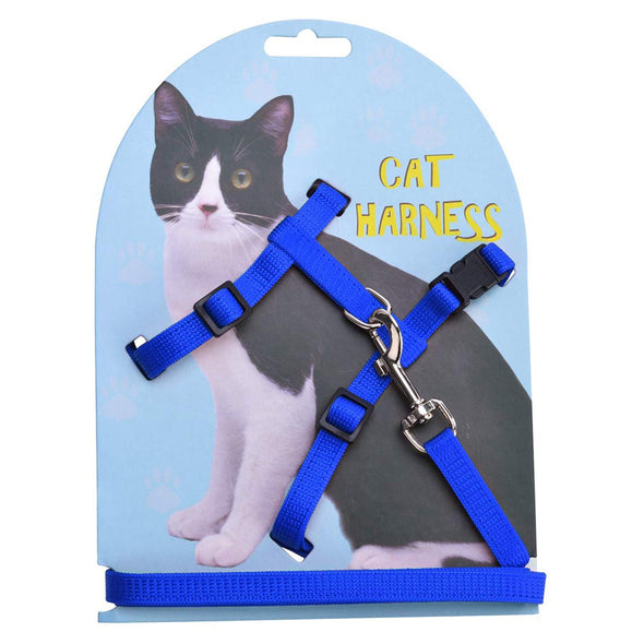 Adjustable Cat Harness Nylon Strap Collar with Leash