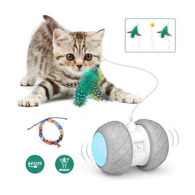 Robotic 360 Degree Self Rotating Ball For Cat Play
