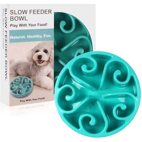 Slow Feeder Pet Bowl Eco-Friendly Non Toxic Bamboo