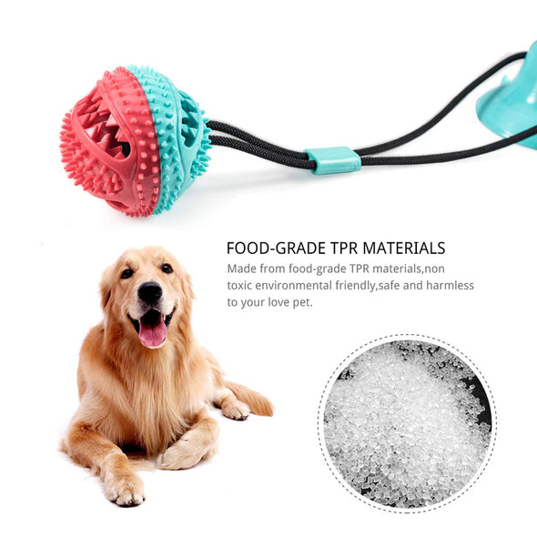 Dog Tug Toy with Suction Cup & Stronger Ropes