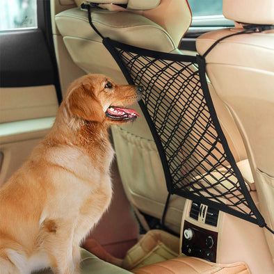 Pet Car Backseat Barrier Net Disturbing Stopper