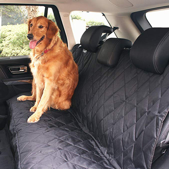 Luxury Pet Car Seat Cover with Seat Anchors Waterproof & Nonslip Backing