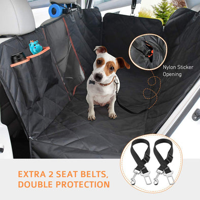 Dog Car Seat Covers with Mesh & Non-Slip Washable