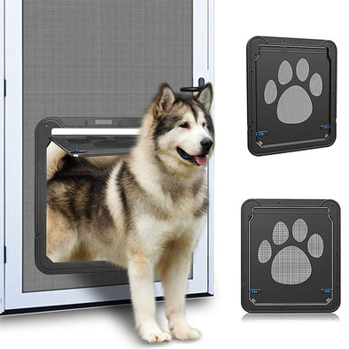 Pet Screen Door with Magnetic Flap