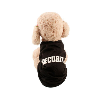 Security Patterns Printed Dog T-Shirt