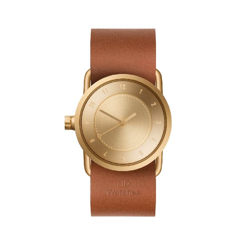 TID No.1 - Gold - Tan Leather