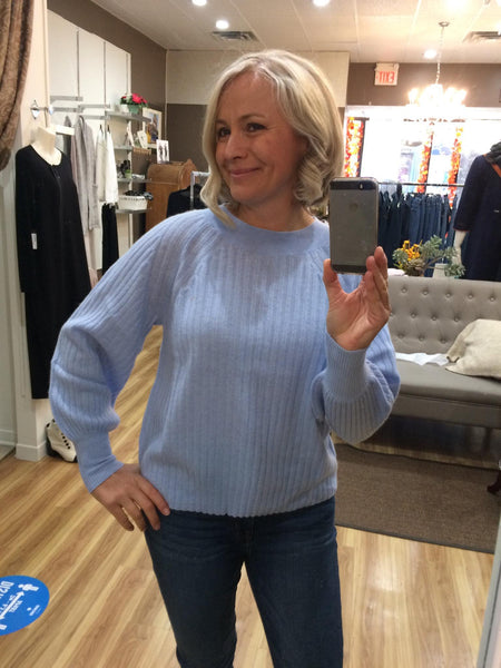 SKY BLUE CASHMERE SWEATER
