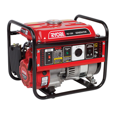 GENERATOR MAX 1.2KVA CONS. 1KVA 4-STROKE AIR-COOLED RG-1200