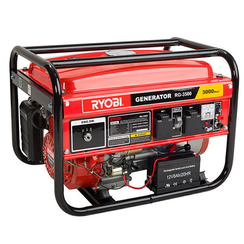Ryobi GENERATOR MAX 3.5KVA CONS 3KVA 4-STROKE WITH KEY START RG-3500