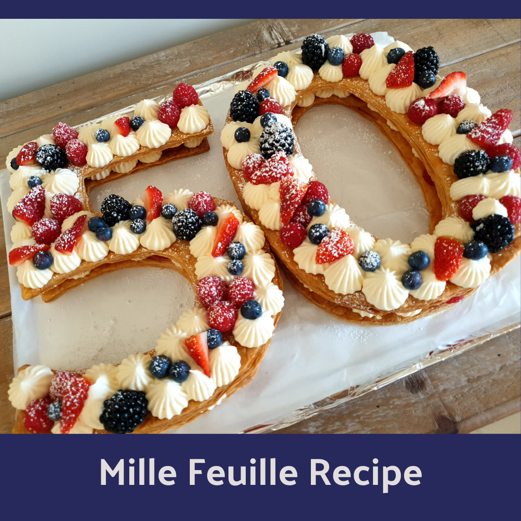 Number Shaped Mille Feuille Recipe