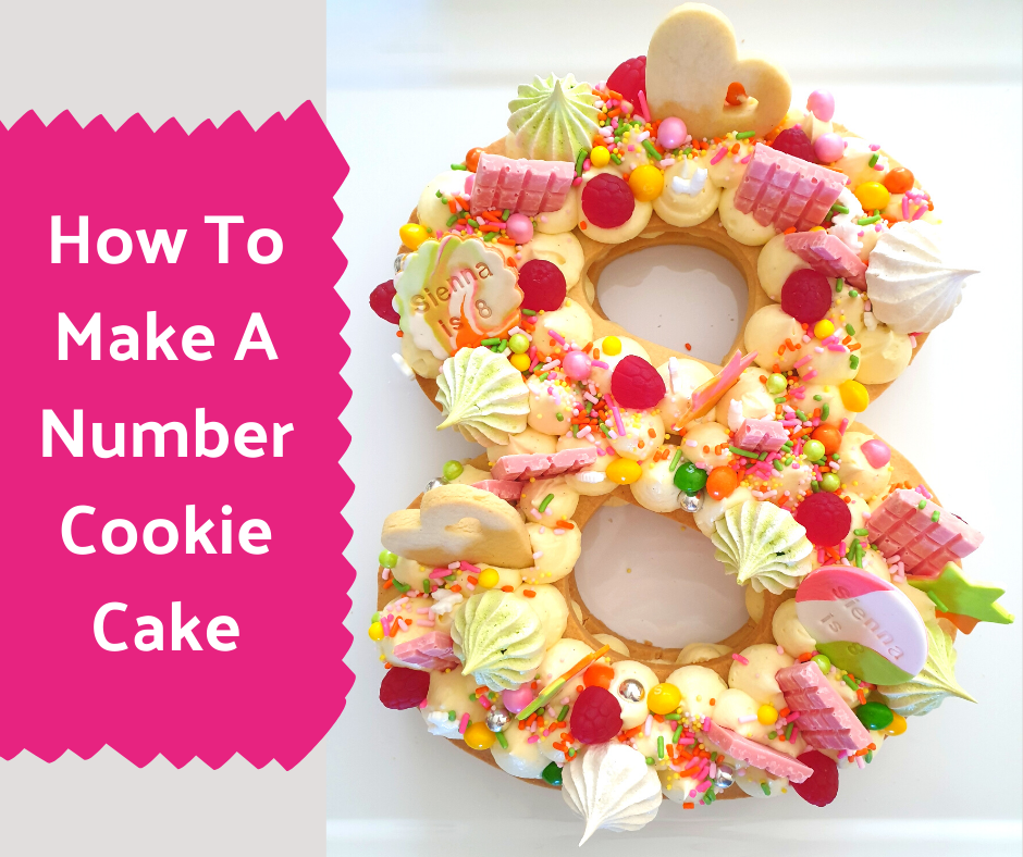 How To Make A Letter Cookie Cake or Number Cookie Cake