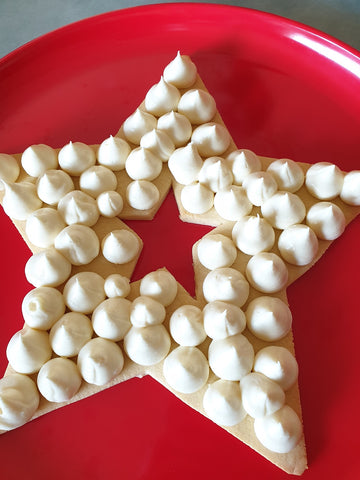 Star Cookie With First Layer Piped