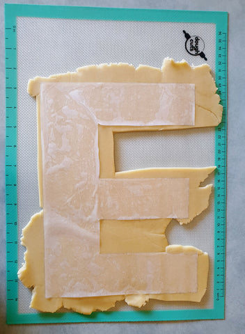 Letter E Cookie Shape Dough cut out
