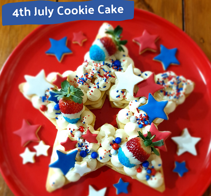 Free Printable How to Make a 4th July Cookie Cake