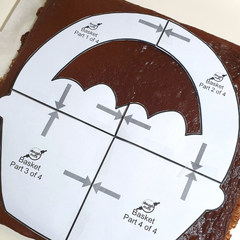 Use our print at home cake template to cut out the shape