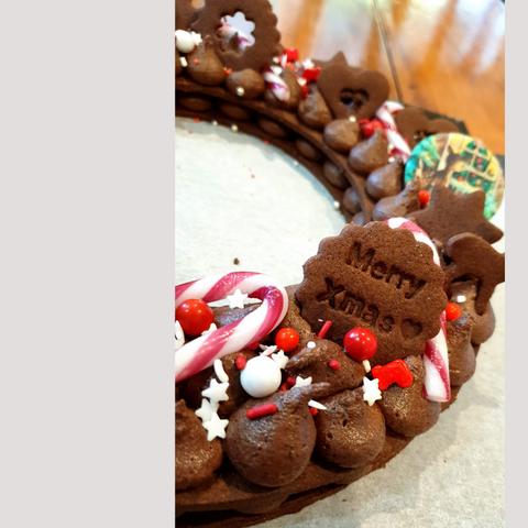 Image of Christmas Wreath Cookie Cake