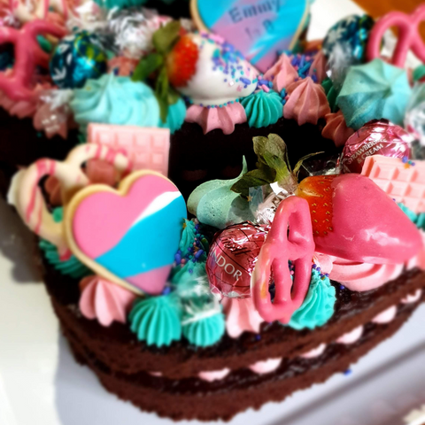 Easy to make birthday cake toppers for number eight birthday cake