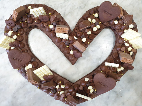 Chocolate cookie cake for Valentines Day