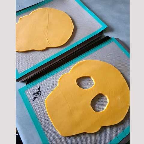 Skull Cookie Cutouts For Large Cookie Cake
