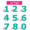 PRINT AT HOME - Set of 9 Number Cookie Cake Templates - 11 inches 28cm