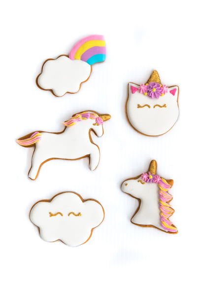 Unicorn Magic Set of 5 Cookie Cutters - Stainless Steel Professional Quality