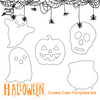 PRINT AT HOME Halloween Cookie Cake Template Set