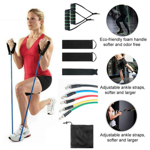 Image of PainBands™ Home Workout Resistance Bands 11 Pcs Set
