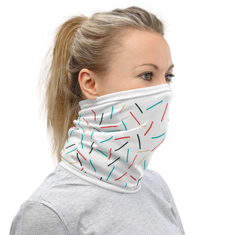 Image of Stylish Colorful Lines Neck Gaiter Face Mask Protection