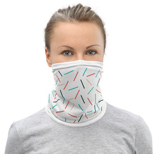 Stylish Colorful Lines Neck Gaiter Face Mask Protection