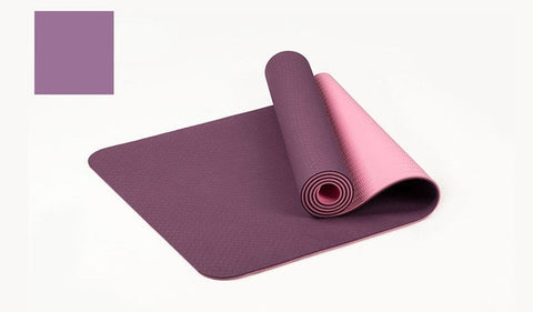 6MM Yoga Mat Reversible Dual Color with Carrying Strap