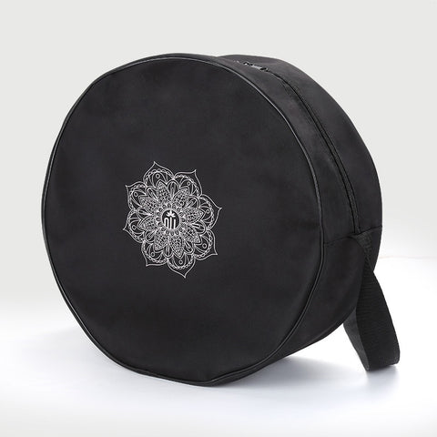 Image of Nylon Black Mandala Yoga Wheel Bag