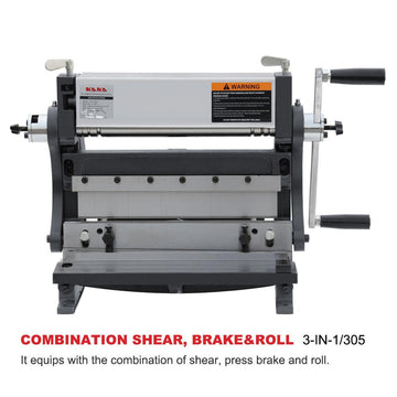 <transcy>3-IN-1/12 3 in 1 Combined Manual Machine: 12 &quot;(30 cm.) Sheet Cutter, Bender and Roller</transcy>