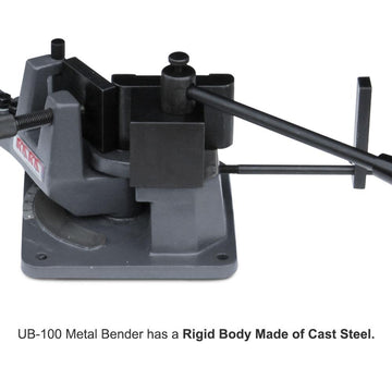 <transcy>KAKA Industrial UB-100 Heavy-Duty Metal Bender, Hot and Cold Strip &amp; Flat &amp; Round Steel Metal Bender</transcy>