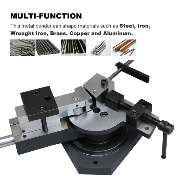 <transcy>SBG-40 Universal Manual Bench Bending Machine and Solid Bar 3-in-1 Double Espriral, Radius and Angle</transcy>