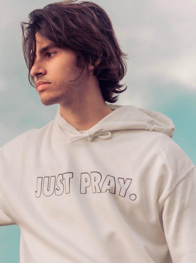 JUST PRAY HOODIE - Saved by Christ Apparel