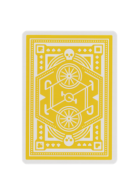 Wheels Playing Cards - Yellow - 52 Wonders Playing Cards Spielkarten Bicycle Fontaine Anyone Orbit Butterfly
