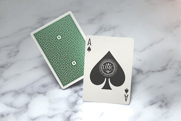 DMC Elites Playing Cards - V4 - Forest Green - 52 Wonders Playing Cards Spielkarten Bicycle Fontaine Anyone Orbit Butterfly