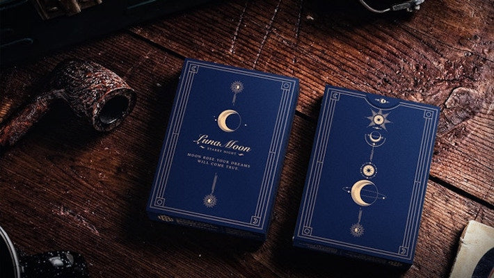 Luna Moon Playing Cards - Classic Blue - 52 Wonders Playing Cards Spielkarten Bicycle Fontaine Anyone Orbit Butterfly