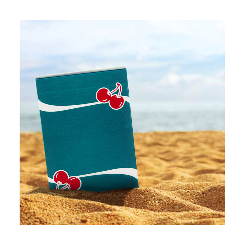 Cherry Casino Tropicana Teal Playing Cards - 52 Wonders Playing Cards Spielkarten Bicycle Fontaine Anyone Orbit Butterfly