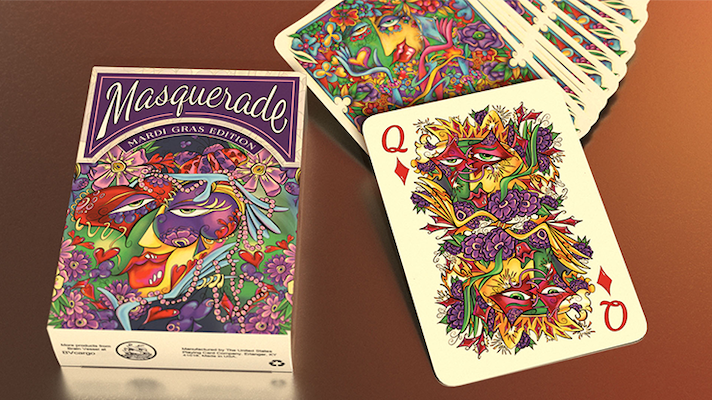 Masquerade Playing Cards - Mardi Gras Edition - 52 Wonders Playing Cards Spielkarten Bicycle Fontaine Anyone Orbit Butterfly