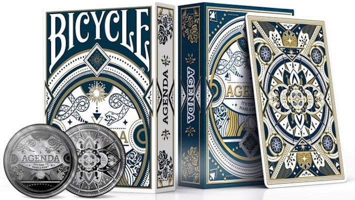 Bicycle Agenda Redux Playing Cards - Deluxe - 52 Wonders Playing Cards Spielkarten Bicycle Fontaine Anyone Orbit Butterfly